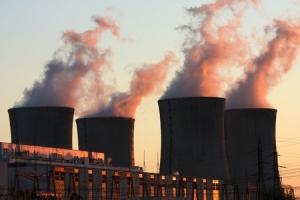 7972563 - nuclear power plant during sunset