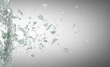 22189057 - broken glass background. high resolution 3d render