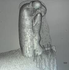 ▲3D印刷でレリーフ制作されたクリムトの名画「接吻」