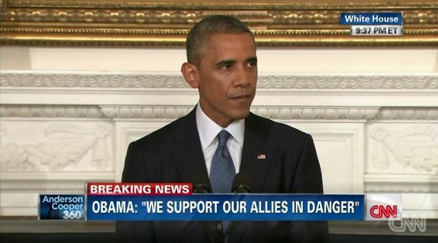 オバマ@イラク空爆CNN