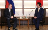 日露首脳会談安倍&プーチン20161215kaidan05