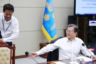 ▲北との対話に乗り出した文在寅大統領(韓国大統領f符の公式サイトから)