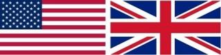 ▲米国と英国の国旗