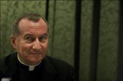 ▲法王批判派に対話を提案したパロリン枢機卿(バチカン放送独語電子版から)