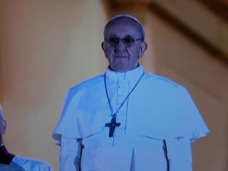 ▲南米教会初のローマ法王フランシスコ(2013年3月13日、オーストリア国営放送の中継から)