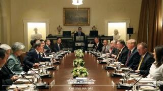 ▲ワシントンでの米韓首脳拡大会議(2019年4月11日、韓国大統領府公式サイトから)
