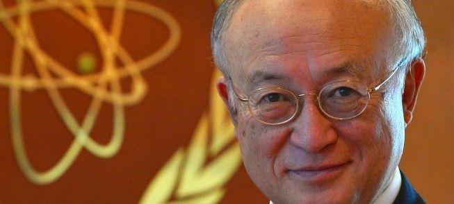 ▲早期辞任が囁かれている天野之弥事務局長(IAEA公式サイトから)