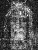 ▲トリノの聖骸布のX線写真