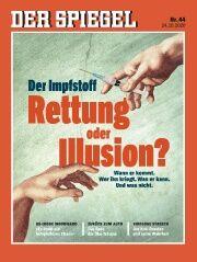 ▲「ワクチンは救いか、錯覚か」という表紙の独週刊誌シュピーゲル(2020年44号の表紙)