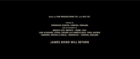 JAMES BOND WILL RETURN